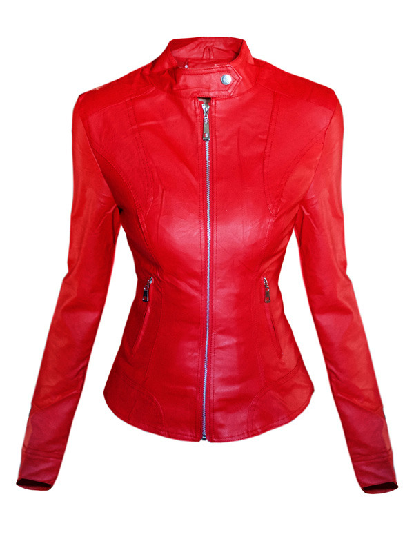 GIACCA IN PELLE SHIRLY rossa